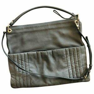 Marc Jacobs Gray Leather Suede Shoulder Bag